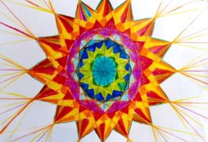 Trabajos de geometría realizados por los jóvenes de grado 6º