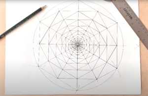 Geometría – espiral generado a partir de hexágonos anidados 1