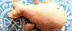 Ballenas hechas en paño lency